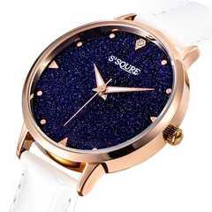 腕時計 クォーツ 星空 ホワイト