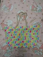 CECIL McBEE☆カラフルロゴトートバッグ
