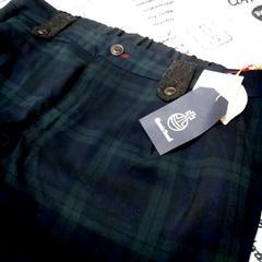 大きいサイズHarris Tweedハリスツイード ブラックウォッチ パンツ 4L新品タグ付き