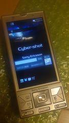 大人気Cyber-shotスライド式ケータイS001オリーブゴールド美品レベル