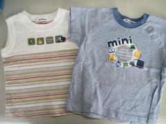 ■2点セット■ キッズ 子供 夏服 半袖 Tシャツ タンクトップ