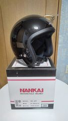 NANKAIヘルメット NK-JET パールブラック フリーサイズ