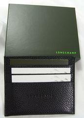◆本物確実正規新品ロンシャン レザー製 カードケース男女兼用