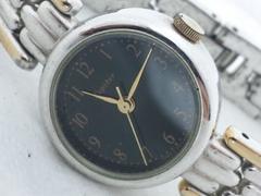 2297復活祭★Jupiterジュピター☆ブラックミラーダイヤルレディース腕時計