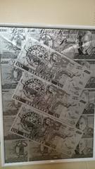 新日本プロレス  オカダ カズチカ  100ポンド£ 紙幣 お札 13枚額入り