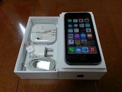 即落/即発!!新品同様 iPhone 5s 16GB グレイ 一括支払い済み
