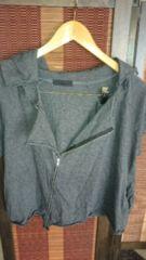■美品JEANASISグレーフードジップデザインジャケット■