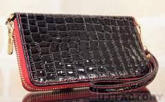 定形外無料 PloomTECHプルームテックケース クロコダイル調 コンパクト ブラック ワニ柄