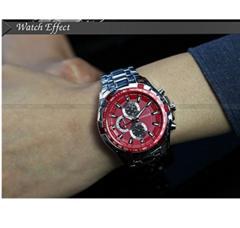 スポーツ クォーツ腕時計レッド