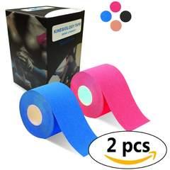 2巻入 テーピングテープ5cm x 5m ピンク/〓い