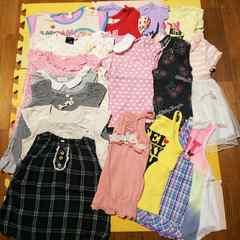 17着女の子夏物半袖Tシャツノースリーブキャミ90cm95cm100cmまとめ売り