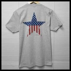 SALE フルーツオブザルーム 星条旗スターUSA Tシャツ/GR/L