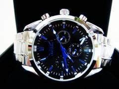 新作◆正規JARAGAR◆ミッドナイト自動巻きクロノグラフ腕時計◆ウブロ系