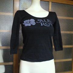 ALBA ROSA/アルバローザロゴプリ 七分 Tシャツ