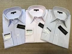 新品・長袖ワイシャツ ストライプ(あ)3枚セット Mサイズ