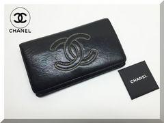 ☆CHANEL☆ シャネル チェーンココマーク 二つ折り財布