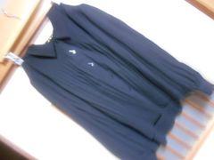 大きいサイズ*プリーツ薄手黒ブラウスLL*クリックポスト164円
