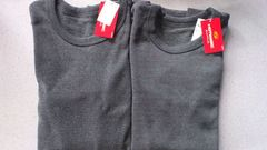 激安55%オフヒートテック、発熱、Polo、長袖シャツ2枚(新品、黒、日本製、L)