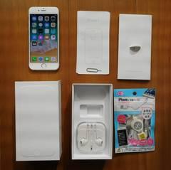 中古美品 iPhone 6 16GB au★MG482J/A A1586シルバー