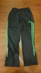 adidasアディダス/黒×緑ジャージパンツ/L/NIKE PUMA