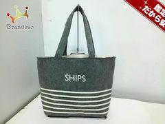 SHIPS(シップス) トートバッグ グレー ウール