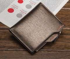 財布 二つ折り財布 メンズ お札入れ 小銭入れ カード入れ  茶色