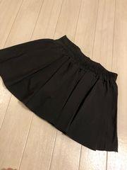 ミニスカート風ショートパンツ ブラック M