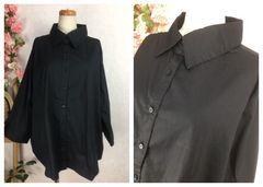 GF120★5L 大きいサイズ 美シルエットベーシックシャツ七分袖