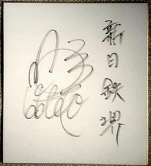 [新日鐵堺]野茂英雄[11]・直筆サイン色紙 近鉄バファローズ入団前