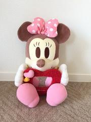 ディズニー ミニーマウス ハート鏡付き BIGぬいぐるみ 35cm