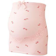 ローズ柄妊婦帯ピンクM新品腹帯