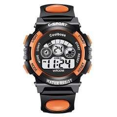 人気のオレンジ大★超人気デジタル腕時計 スポーツウォッチ