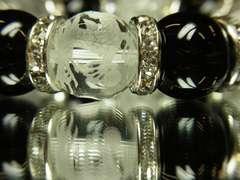 即決価格!皇帝龍水晶×オニキス×クラック水晶数珠ブレス