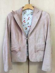 □《FLORA SMITH/フローラ スミス》スエードジャケット ピンク□