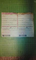 大韓民国入国カード(アシアナ航空用)♪