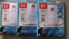 激安68%オフまとめ売り、BVD半袖Tシャツ6枚(未開封、白、L)