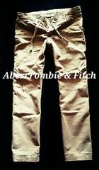 【Abercrombie&Fitch】Vintage Destroyed ストレートチノパンツ 36/Khaki