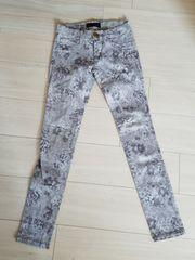 rienda☆フラワー柄パンツ、花柄、ストレッチ、24インチ