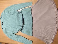 ジャスグリッティー セーター スカート セットアップ ベルト