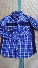 チェックシャツ 140