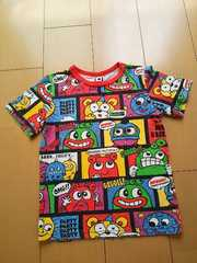 中古総柄Tシャツ120赤partyparty