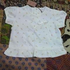 COMME CA ISM/コムサイズム小花柄 パフ袖 Tシャツ 80�p