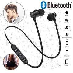 Bluetooth イヤホン ワイヤレスイヤホン マイク 両耳 黒