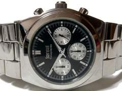 良品【1点もの】カンサイ ヤマモト【クロノグラフ】メンズ腕時計