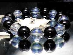 アクアレインボーオーラ§オニキス§12ミリ数珠