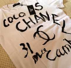 シャネル CHANEL グラフィティ Tシャツ メンズ XL 白