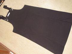 未使用☆ジャンパースカート*スリット入りスカート(黒)