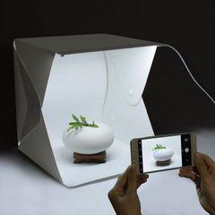 LEDライト搭載◆撮影ボックス/簡易スタジオ 小型 撮影キット
