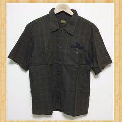 TENDERLOIN テンダーロイン XS コットンシャツ 半袖 ブラウン