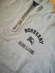 バーバリーhorse刺繍ZIPsweat 人気グレー